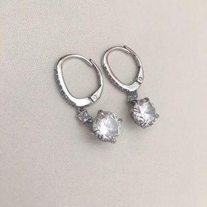 925 Diamond drop earrings
